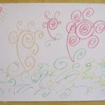 渦巻状に描かれた花