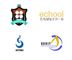 通信課程の大学のロゴ一覧