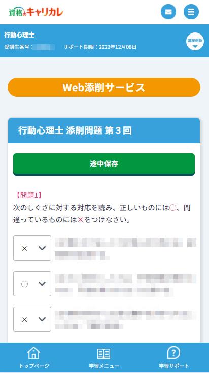 WEB添削画面
